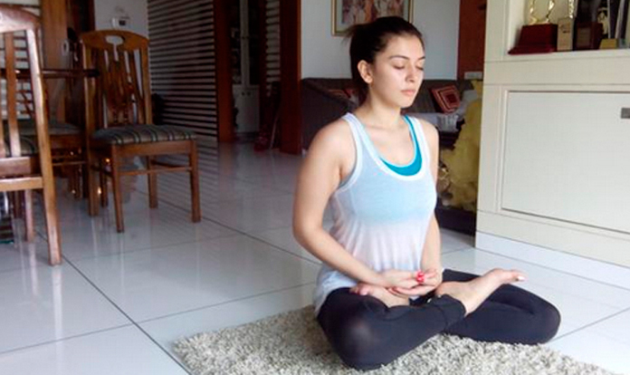 Hansika Workouts For Weightloss