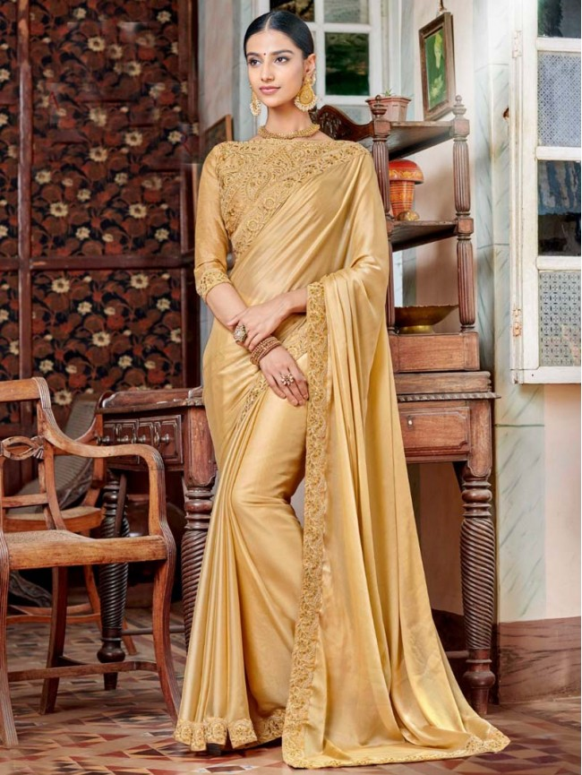 indian-designer-women-s-party-wear-golden-color-border-embroidered-silk-saree-with-blouse-
