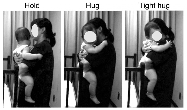 children hug