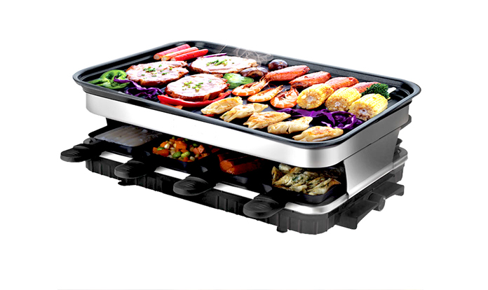 extra large family size non stick grill