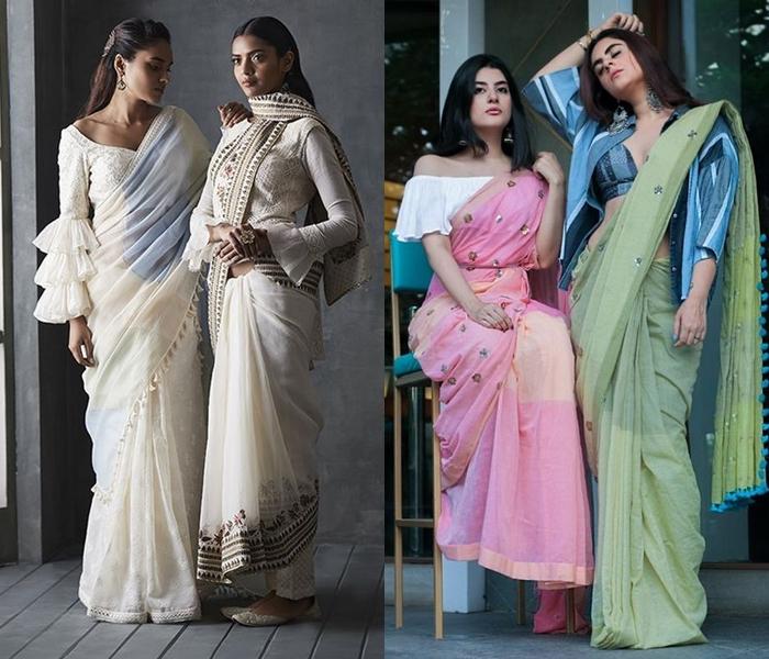 indo-western-saree-blouse-ideas