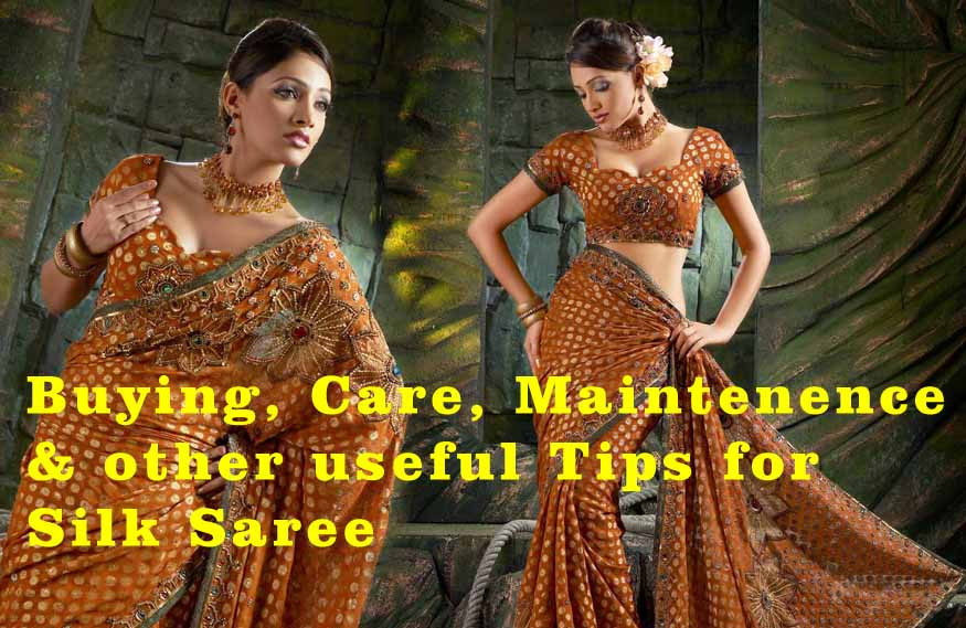 beautiful & sexy golden banarasi silk saree for women